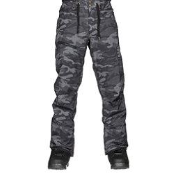 Quiksilver Forest Oak Mens Snowboard Pants, Black Grey Camokazi, 256