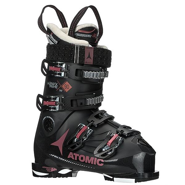 Atomic Hawx Prime 90 W Womens Ski Boots 2018, Black-Rust, 600