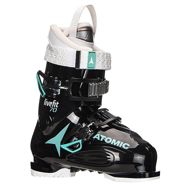 Atomic Live Fit 70 W Womens Ski Boots 2018, Black-Mint-White, 600