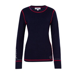 Meister Peace Womens Sweater, Deep Navy-Chili, 256
