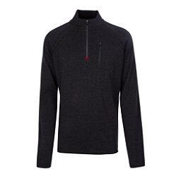 Meister Theo Mens Sweater, Charcoal Heather-Chili, 256