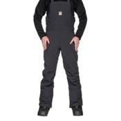 ThirtyTwo Basement Bib Mens Snowboard Pants, Black, medium
