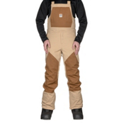 ThirtyTwo Basement Bib Mens Snowboard Pants, Tan, medium