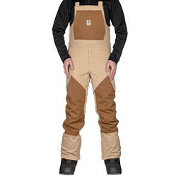 ThirtyTwo Basement Bib Mens Snowboard Pants, Tan, 256