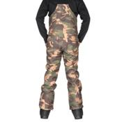ThirtyTwo Basement Bib Mens Snowboard Pants, Camo, medium