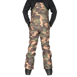 ThirtyTwo Basement Bib Mens Snowboard Pants, Camo, 256