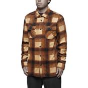 ThirtyTwo Reststop Polar Fleece Mens Shirt, Tan, medium