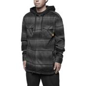 ThirtyTwo Filter Polar Fleece Zip Mens Hoodie, Carbon, medium
