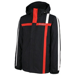 Karbon Saturn Mens Insulated Ski Jacket, Black-Red-Arctic White, 256