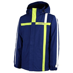 Karbon Saturn Mens Insulated Ski Jacket, Navy-Lime-Arctic White, 256