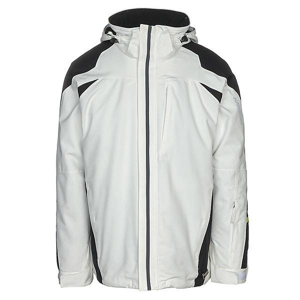 Karbon Pluto Mens Insulated Ski Jacket, Arctic White-Black-Char-Lim-Ch, 600