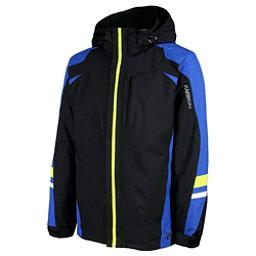 Karbon Pluto Mens Insulated Ski Jacket, Black-Patriot-Lime-Arcwh-Lime, 256