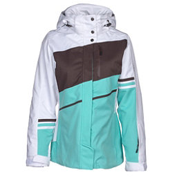 Karbon Epsilon Womens Insulated Ski Jacket, Arctic White-Mint-Java-Java, 256