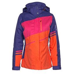 Karbon Epsilon Womens Insulated Ski Jacket, Iris-Lava-Hibiscus-Lava, 256