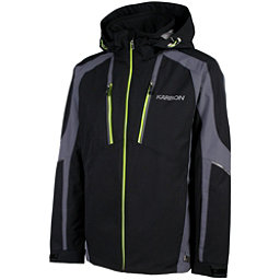 Karbon Aluminum Mens Insulated Ski Jacket, Black-Charcoal-Lime, 256