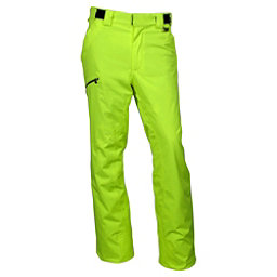 Karbon Silver Trim Short Mens Ski Pants, Lime-Black, 256