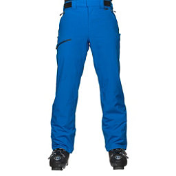 Karbon Silver Trim Mens Ski Pants, Olympic Blue-Black, 256