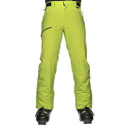 Karbon Silver Trim Mens Ski Pants, Lime-Black, 256