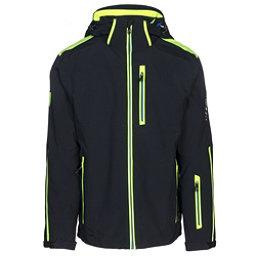 Karbon Apollo Mens Insulated Ski Jacket, Black-Neon Lime-Empire, 256