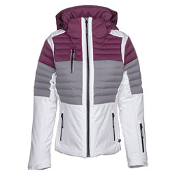 NILS Beth Womens Insulated Ski Jacket, White-Steel Gray-Merlot, 256