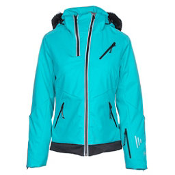 NILS Belinda w/Faux Fur Womens Insulated Ski Jacket, Turquoise-Black, 256