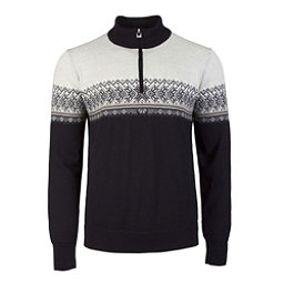 Dale Of Norway Hovden Masculine Mens Sweater, Black-Light Charcoal-Smoke-Bei, 256