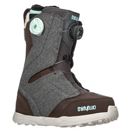 ThirtyTwo Lashed Double Boa Womens Snowboard Boots 2018, Grey-Brown, 256