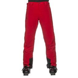 Salomon Icemania Mens Ski Pants, Barbados Cherry, 256