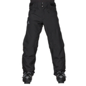 Salomon Fantasy Mens Ski Pants, Black Heather, medium