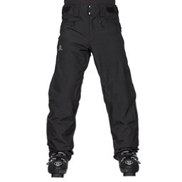 Salomon Fantasy Mens Ski Pants, Black Heather, 256