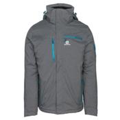 Salomon Brilliant + Mens Insulated Ski Jacket, Quiet Shade Heather, medium