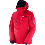Salomon Brilliant Mens Insulated Ski Jacket, Barbados Cherry, medium