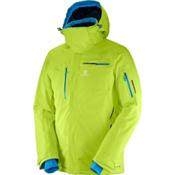 Salomon Brilliant Mens Insulated Ski Jacket, Acid Lime, medium