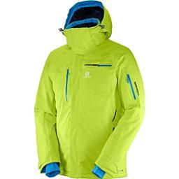 Salomon Brilliant Mens Insulated Ski Jacket, Acid Lime, 256
