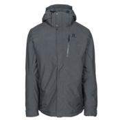 Salomon Fantasy Mens Insulated Ski Jacket, Medium Grey Heather, medium