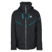 Salomon Stormrace Mens Insulated Ski Jacket, Black, medium