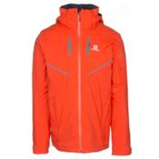 Salomon Stormrace Mens Insulated Ski Jacket, Vivid Orange, medium