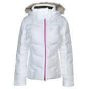Salomon Icetown Womens Insulated Ski Jacket, White Heather, medium