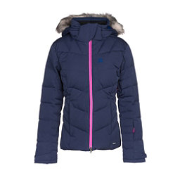 Salomon Icetown w/ Faux Fur Womens Insulated Ski Jacket, Medieval Blue Heather, 256