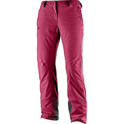 Salomon Icemania Womens Ski Pants, Beet Red, 256