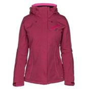 Salomon Fantasy Womens Insulated Ski Jacket, Beet Red Heather, medium