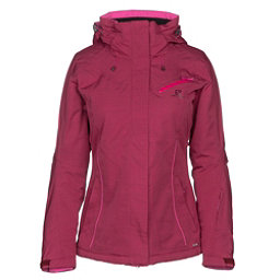 Salomon Fantasy Womens Insulated Ski Jacket, Beet Red Heather, 256