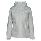 Salomon Fantasy Womens Insulated Ski Jacket, Light Grey Heather, medium