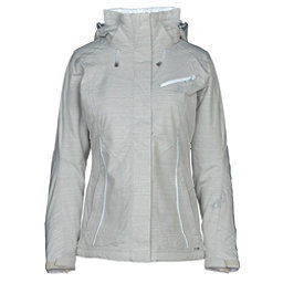 Salomon Fantasy Womens Insulated Ski Jacket, Light Grey Heather, 256