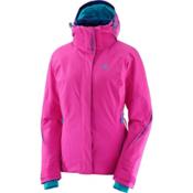 Salomon Brilliant Womens Insulated Ski Jacket, Rose Violet, medium