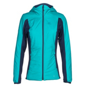Salomon Drifter Hoodie Womens Mid Layer, Blue Bird-Medieval Blue, medium