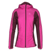 Salomon Drifter Hoodie Womens Mid Layer, Rose Violet-Fig, medium