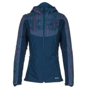 Salomon Drifter Hoodie Womens Mid Layer, Medieval Blue, medium