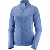 Salomon Right Nice FZ Womens Mid Layer, Medieval Blue, medium