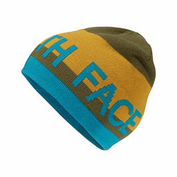The North Face Anders Beanie Kids Hat, Burnt Olive Green-Arrowwood Ye, 256